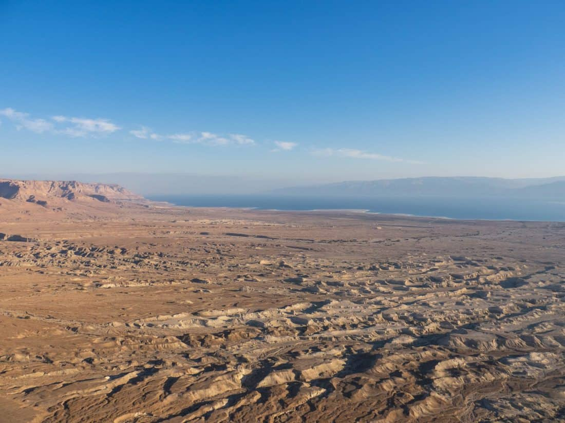 Dead Sea view from the North Palace at Masada National Park, Israel (2017-01-03)