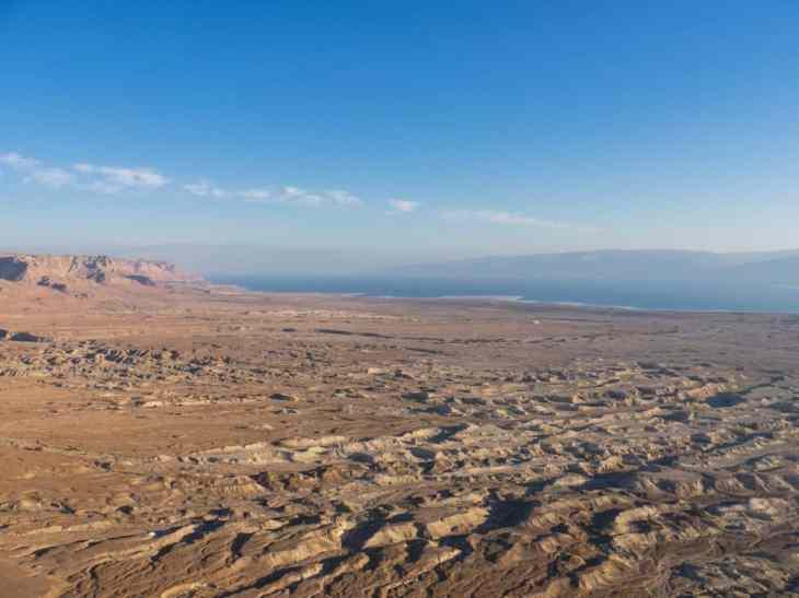 Dead Sea view from the North Palace at Masada National Park, Israel (2017-01-03)