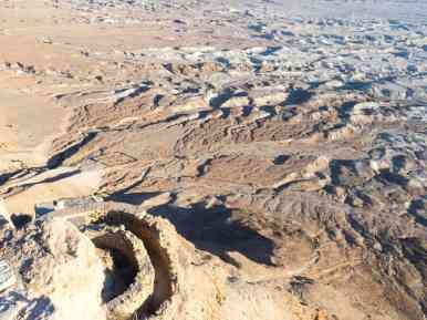 Looking down at the North Palace at Masada National Park, Israel (2017-01-03)