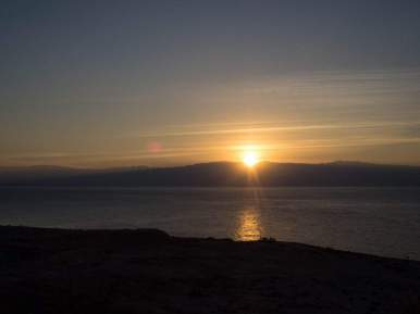 Sunrise over the Dead Sea