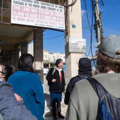Abraham Tours guide Judy, Hebron, Palestine (2017-01-08)