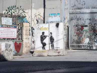 Banksy signature but probably a copy, Bethlehem, Palestine (2017-01-11)