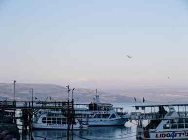 View of Mount Hermon, Tiberias, Sea of Galilee, Israel (2017-01-23)