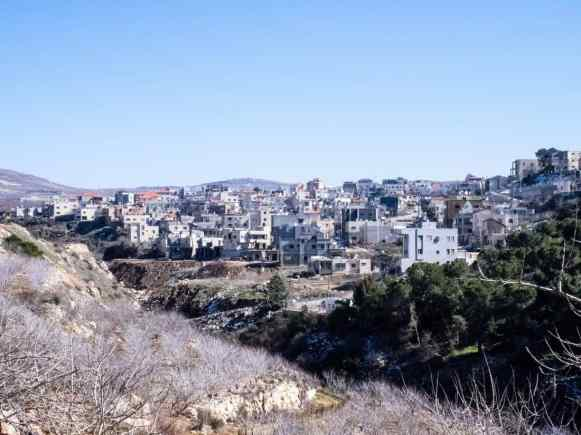 Druze town Mas'ade, Golan Heights, Israel (2017-01-30)