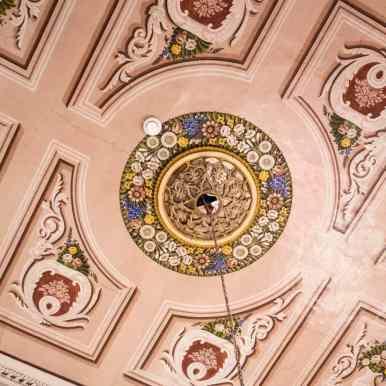 Painted ceiling at the Fauzi Azar Inn, Nazareth, Israel (2017-02-03)