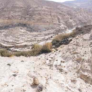 Looking down into upper Ein Akev spring, Israel (2017-02-09)