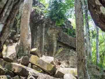 Beng Mealea detail, Angkor, Siem Reap, Cambodia (2017-04-16)