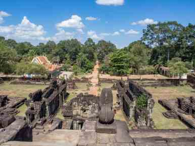 View from Bakong temple, Roluos Group, Angkor, Siem Reap, Cambodia (2017-04-21)