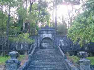 Stairs to the actual Minh Mang Tomb, Hue, Vietnam (2017-06)