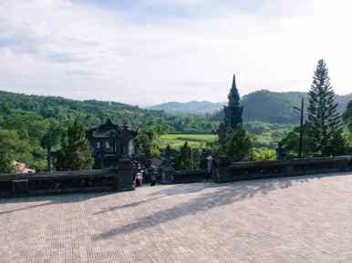 View from Khai Dinh Tomb, Hue, Vietnam (2017-06)
