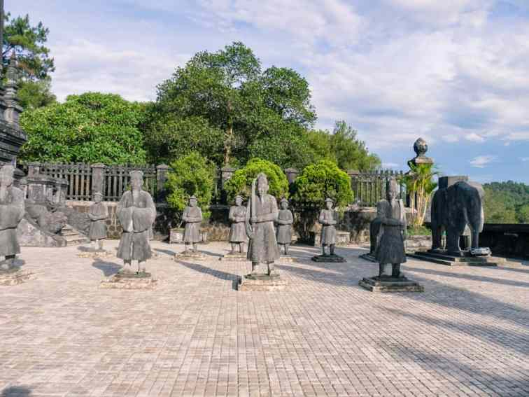 Concrete soldiers at Khai Dinh Tomb, Hue, Vietnam (2017-06)