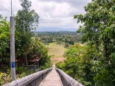 Ascent to the monastery at at Secret Lake, Kampot, Cambodia (2017-04-29)