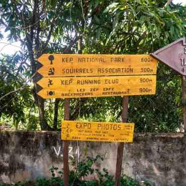 Signs at Kep National Park, Cambodia (2017-04)