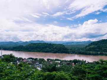 Mekong River from Mount Phousi, Luang Prabang, Laos (2017-08)