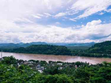 Mekong River from Mount Phousi, Luang Prabang, Laos (2017-08)