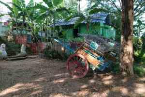 Horse cart at Mae Nu Oak Kyaung (Brick Monastery), Inwa, Mandalay, Myanmar (2017-09)