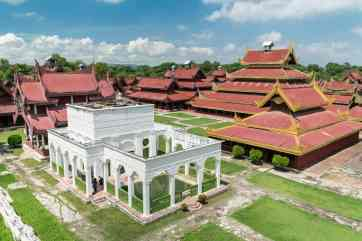 View from the watchtower onto the Mandalay Royal Palace, Myanmar (2017-09)