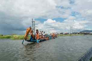 Inle Lake boat tour: Procession barge, Myanmar (2017-10)