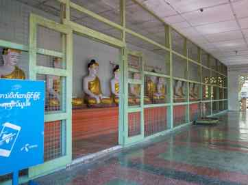 Row of Buddhas at Umin Thounzeh Paya, Sagaing, Mandalay, Myanmar (2017-09)