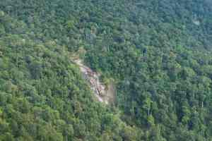 Seven Wells Waterfall as seen fromSkyCab cable car, Langkawi, Malaysia