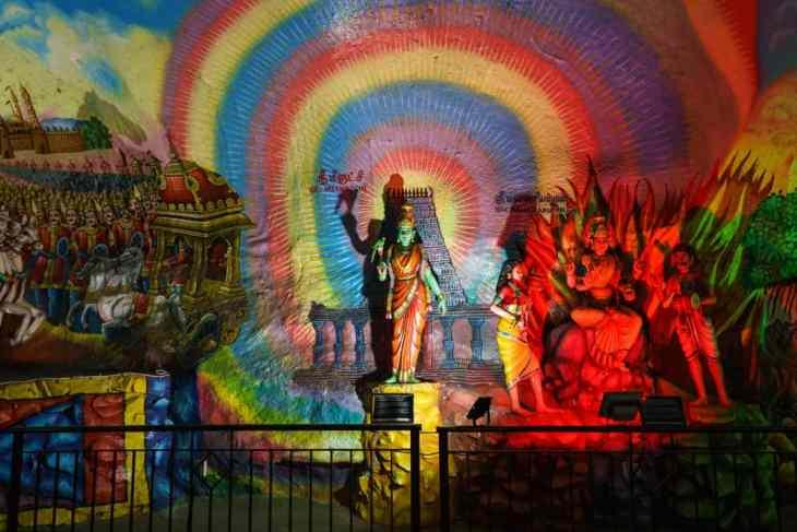 Colorful education about Hinduism at Cave Villa, Batu Caves, Kuala Lumpur, Malaysia - 20171231-DSC03276