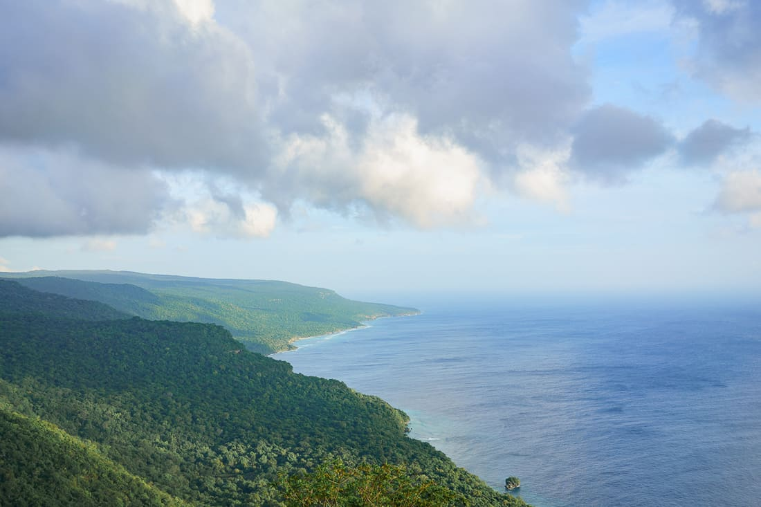 Northeastern East Timor coast as seen from Pousada Lautem in Tutuala