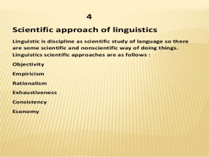 Facts You Must Know About Linguistics As A Science