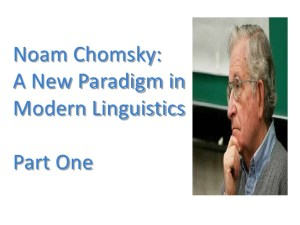 Chomsky as psycholingustics