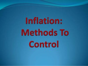 What are Measures To Control Inflation