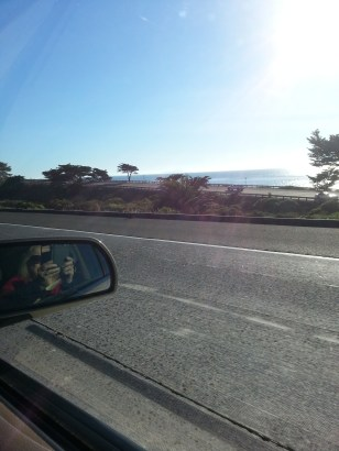 Me attempting photo from car near Ventura