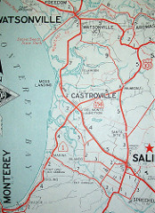 7995058755_8cd6dfe7d9_m Monterey Bay area old map via AAA and davecito on Flickr