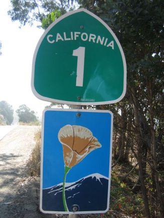 California Highway 1 Sign by Mario Salje on Wikipedia