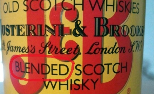 Etiqueta de Whisky JB