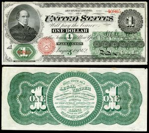 1862 Greenbacks were America's first paper money under martial law.