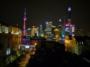 Futuristic Shanghai skyline
