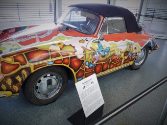 Janis Joplin's 1965 356C Cabriolet Porsche rock n roll hall of fame cleveland ohio