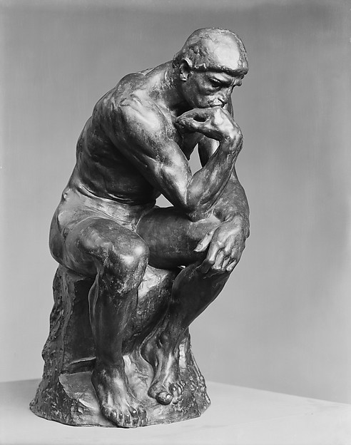 The Thinker, by Auguste Rodin, Metropolitan Museum of Art, New York is a city of culture