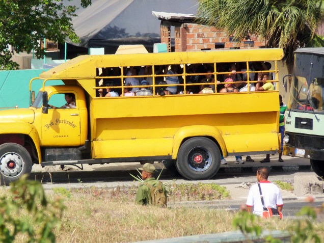 Moving through Cuba - bus