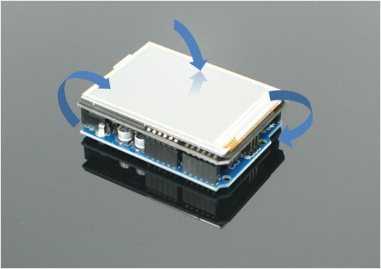 Touch -> TouchShield Slide -> Arduino -> TouchShield Slide