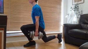 home workout lunges