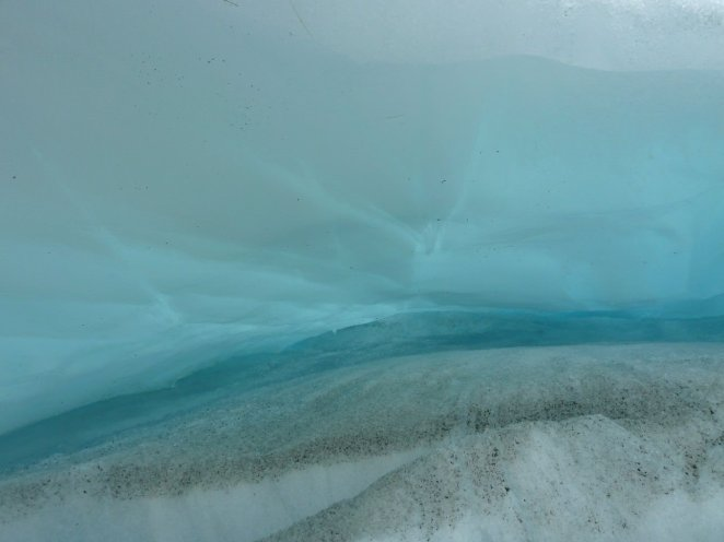Blue ice on the Fox Glacier