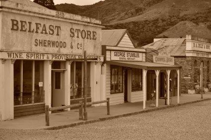 Arrowtown town has a wild west feel