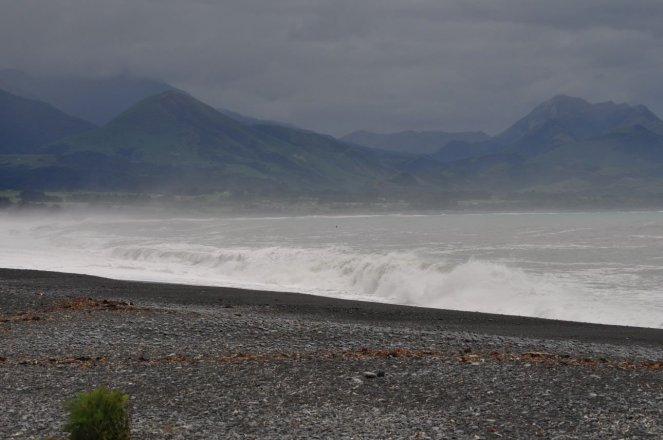 Kaikoura, not looking good out to sea