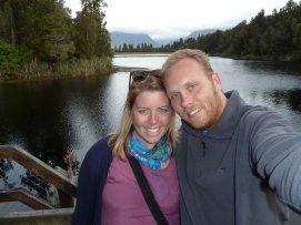 Bill & Eva at Lake Matheson