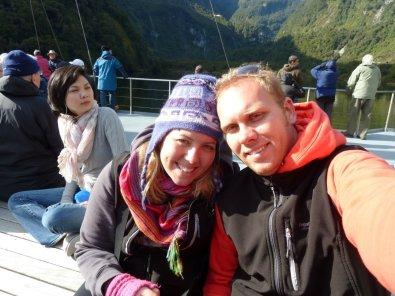 On deck aboard The Fiordland Navigator