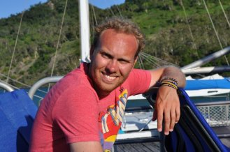Bill on the boat back to Airlie beach