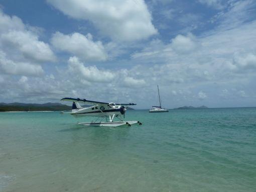 Whitehaven beach plane