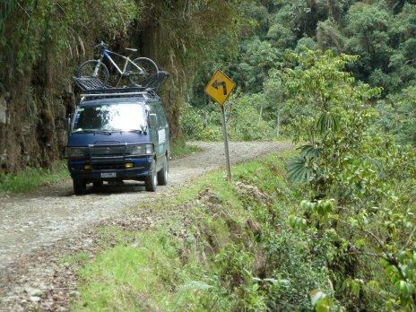 Death Road Bolivia bike van
