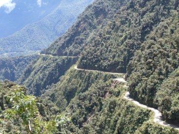 Death Road Bolivia scary road