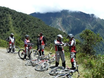 Death Road Bolivia taking a rest